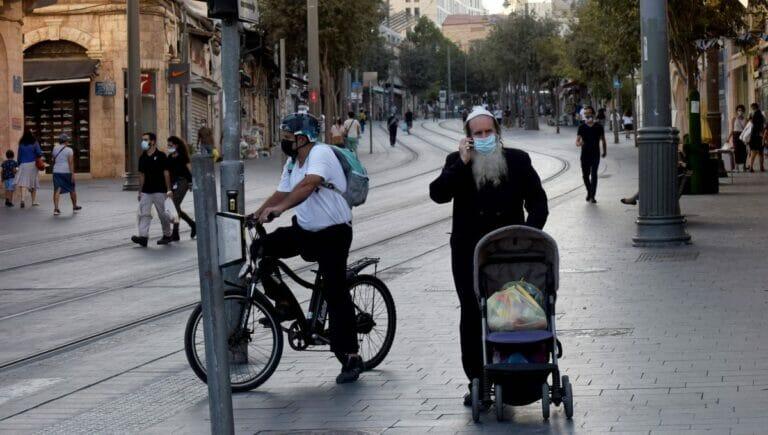 Die Jaffa Street in Jerusalem während der Corona-Maßnahmen