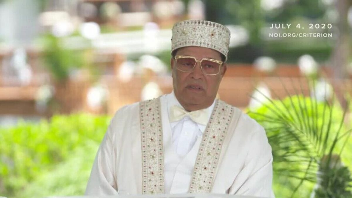 "Führer der ""Nation of Islam"" Louis Farrakhan"