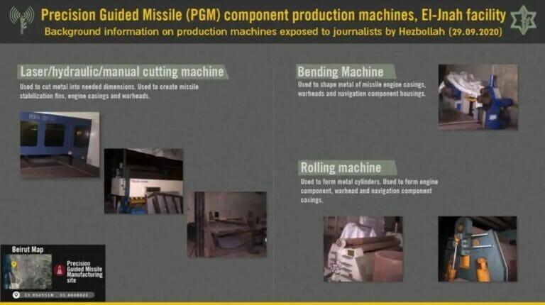 Hisbollah zeigt in Video Maschinen zur Raketenproduktion
