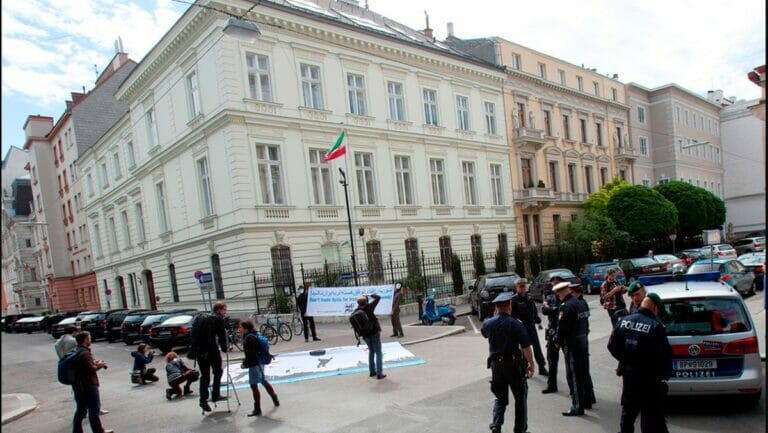 Vor seiner Verhaftung war der Diplomat an der iranischen Botschaft in Wien beschäftigt