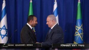 Der äthiopische Premierminister Abiy Ahmed und israelischer Amtskollege Netanjahu