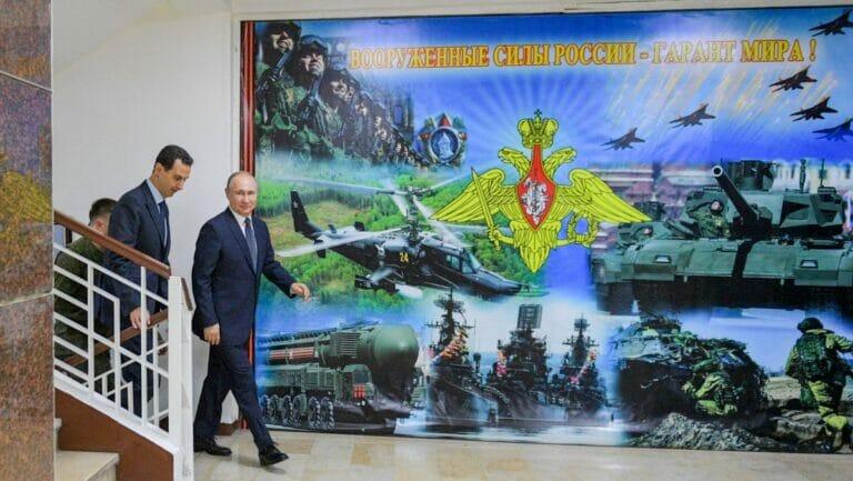 Putin und Assad bei einem Treffen in Damsakus