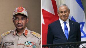 Sudans stv. Staatschef Daglo und Israels Premier Netanjahu