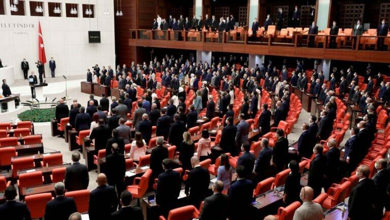 Sitzung im türkischen Parlament