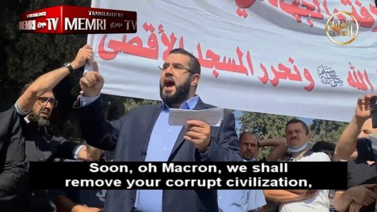 Aufruf zum Dschihad bei einer Kundgebung am Tempelberg in Jerusalem. (© MEMRI TV)