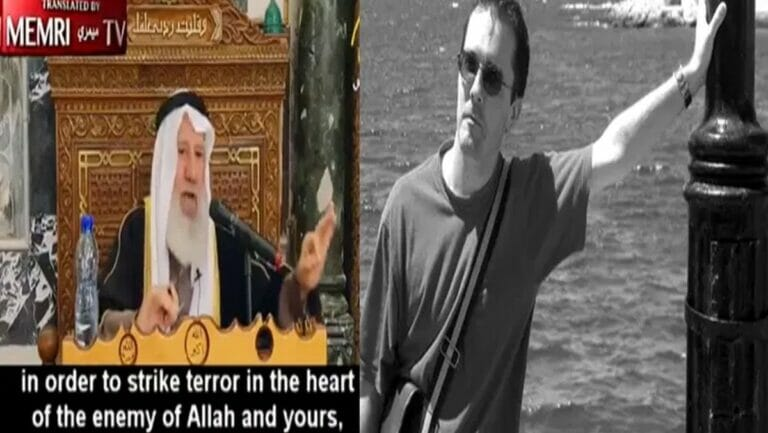 Palästinensischer Islamgelehrter Scheich Issam Amira und französischer Lehrer Samuel Paty