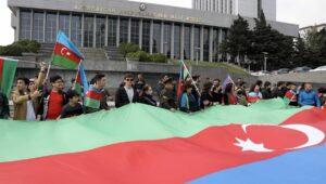 Siegesfeier in der aserbaidschanischen Hauptstadt Baku