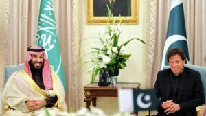 Der saudische Kronprinz Mohammed bin Salman und der pakistanische Premierminister Imran Khan bei einem Treffen in Islamabad