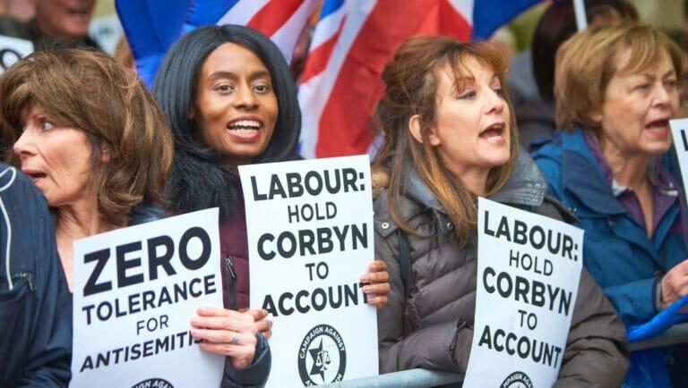 Demonstration gegen den Antisemitismus der Labour Party
