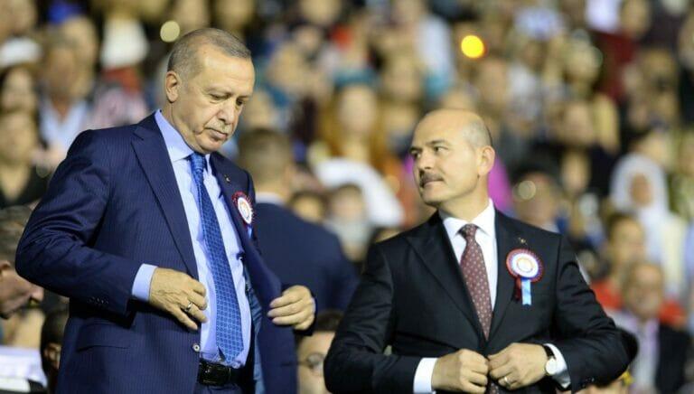 Der türkische Präsident Erdogan und Innenminister Süleyman Soylu