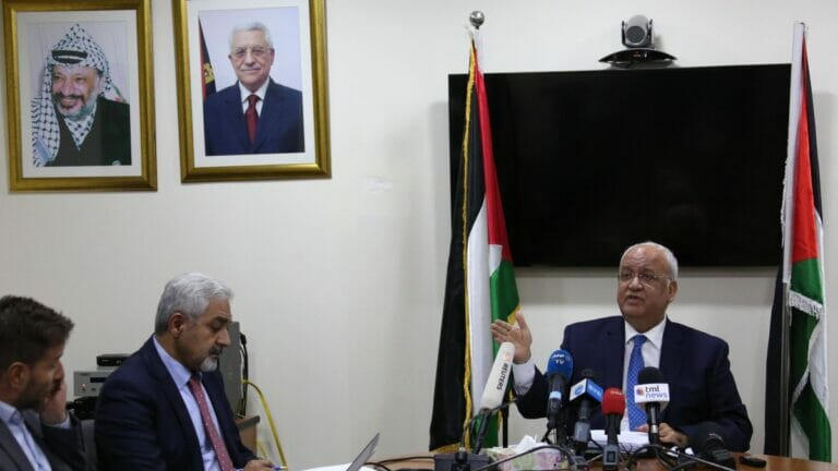 Der palästinensiche Chefunterhänlder Saeb Erekat ist an Corona verstorben
