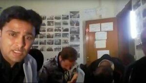 Screenshot der Videokonferenz der Gaza-Friedensaktivisten