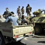 Mitglieder der pro-iranischen Houthis-Milizen im Jemen