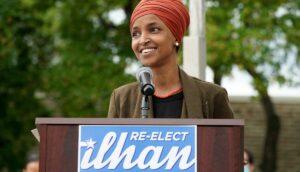 Die wiedergewählte demokratische US-Abgeordnete Ilhan Omar