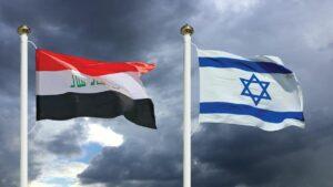 Die irakische und die israelische Flagge