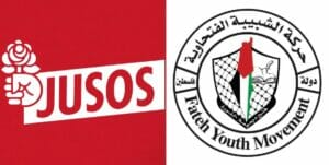 Logos der SPD-Jugenorganisation und der Fatah-Jugendbewegung