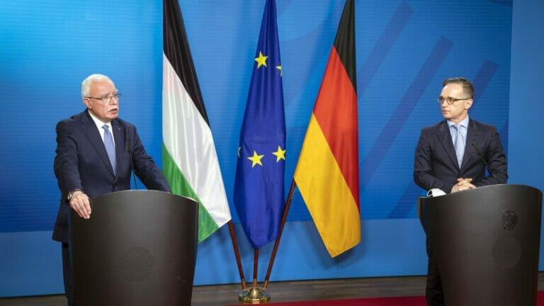 """Braucht keine Kritik zu befürchten: Palästinensischer """"Außenminister"""" Riad Al-Malki beim Treffen mit Heiko Maas"""