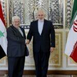Syrischer Außenminister Muallem mit seinem iranischen Amtskollegen Zarif