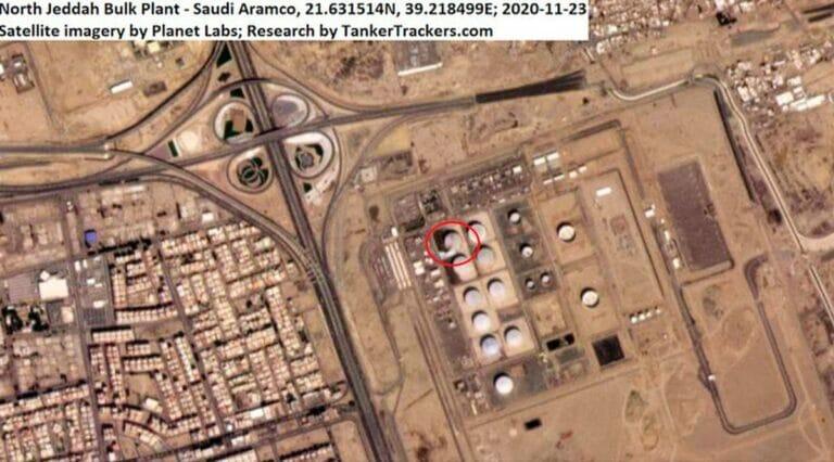 Die von Huthi-Milizen angegriffene Ölanlage in Saudi-Arabien