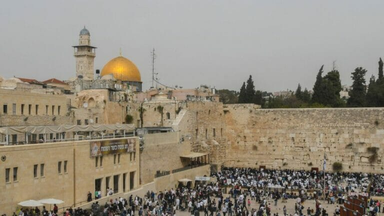 Laut UNO ein rein islamischer Ort: Tempelberg mit Felsendom in Jerusalem