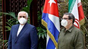 Irans Außenminister Mohammad Javad Zarif mit seinem kubanischen Amtskollegen Bruno Rodriguez Parrilla