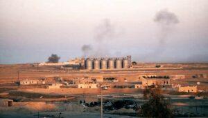 Türkische Artiellerieangriffe im Raum Ain Issa in Nordsyrien