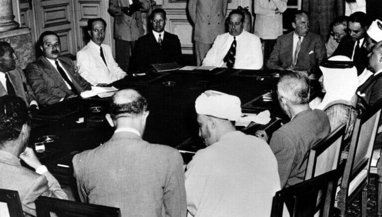Die Arabische Liga beschloss bereits im Jahr ihr Gründung 1945 den Boykott des Jischuw