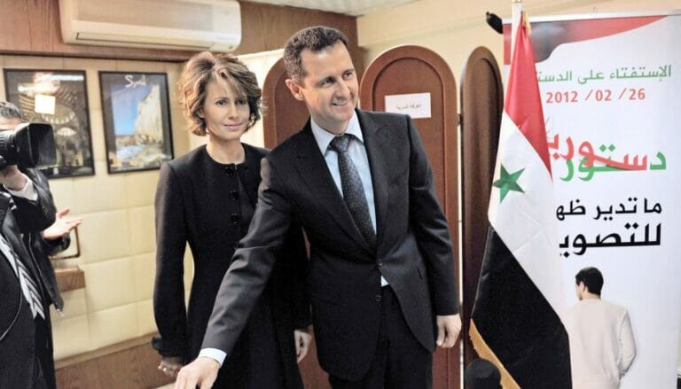 Asma al-Assad und ihr Ehemann Bashar