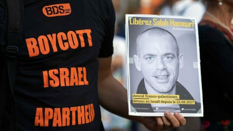 Staatlich unterstützenwert? BDS-Demonstration für verurteilten Terroristen und mutmaßliches PFLP-Mitglied Salah Hamouri