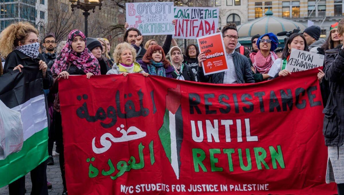 Demonstration von Aktivisten der Israelboykott-Bewegung BDS
