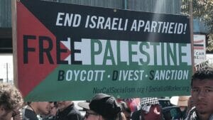 Demonstration der antismeitischen BDS-Bewegung in den USA