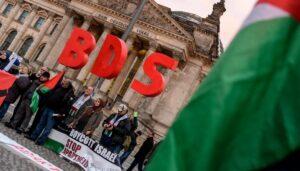 BDS-Demonstration vor dem deutschen Bundestag