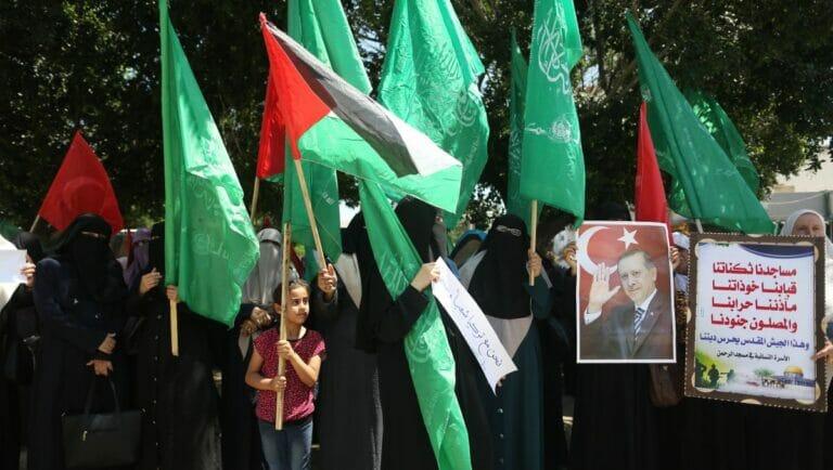 Dia Hamas in Gaza feiert Türkeis Präsidenten Erdogan