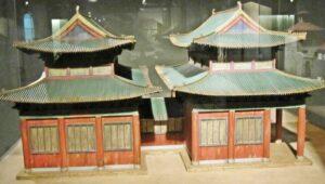 Modell der Synagoge von Kaifeng im Daispora Museum in Tel Aviv