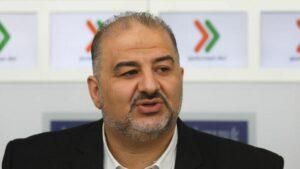 Der Vorsitzende des Hohe Arabische Beobachtungskomitees in Israel Mansour Abbas.