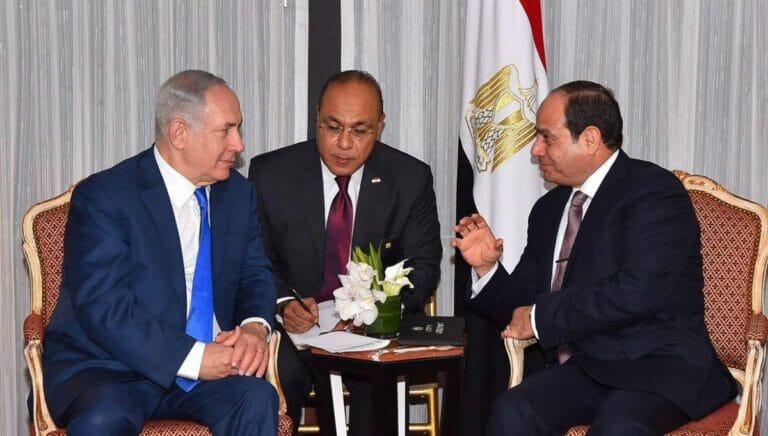 Premier Netanjahu und Präsident al-Sisi bei einem Treffen anlässlich der UNO-Generalversammlung