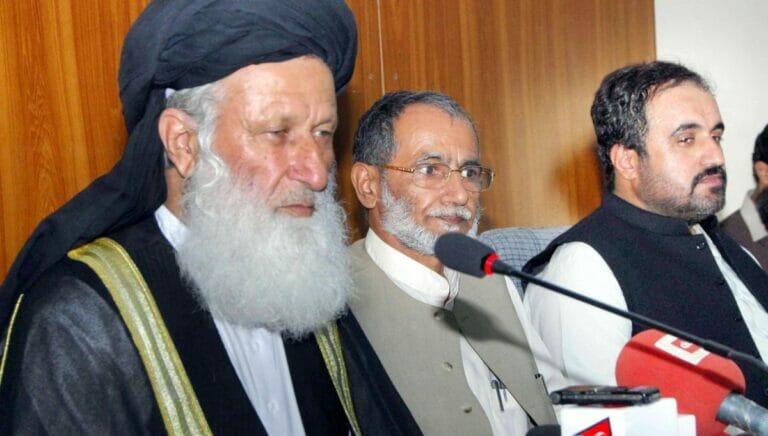 Das Mitglied der pakistanischen Nationalversammlung Maulana Muhammad Khan Sherani