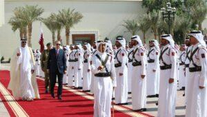 Der katarische Emir Sheikh Tamim bin Hamad Al Thani und der türkische Präsident Erdogan