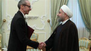 Österreichischer Botschafter Stefan Scholz trifft Irans Präsident Hassan Rohani