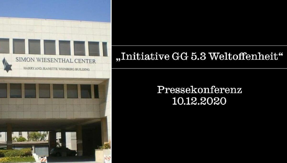 Das Simon Wiesenthal Center setzt die Initiative GG 5.3 Weltoffenheit auf seine Antisemitismus-Liste