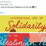 """Rashida Tlaib retweetet: """"Vom Jordan bis zum Mittelmeer, Palästine wird frei sein"""""""