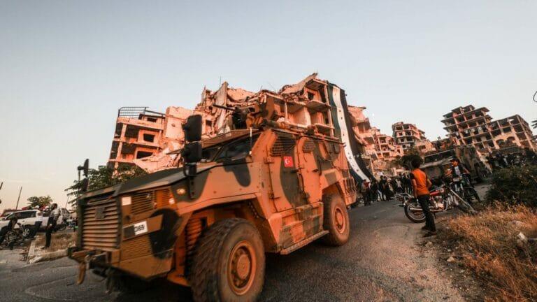 Türkische Militärpatrouille in der Region Idlib