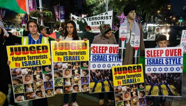 Demonstration der antisemitschen BDS-Bewegung