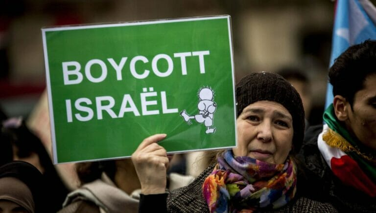 Französische Aktivistin der antisemitischen Israelboykottbwegung BDS