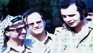 Fatah-Führer Jassir Arafat mit dem Kommandeur des Schwarzen Septembers Ali Hassan Salameh