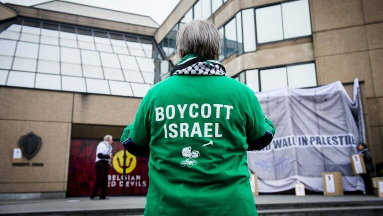 Demonstration der antisemitischen Israelboykott-Bewegung BDS