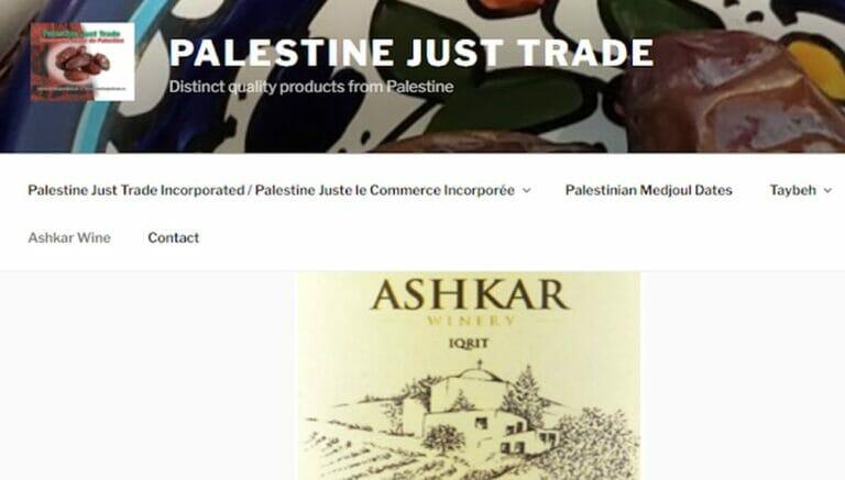 """Die Israelboykott-Organisation """"Palestine Just Trade"""" verkauft Wein aus Israel"""