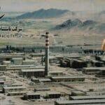 Plakat der Urananreicherungsanlage Natanz im Iran