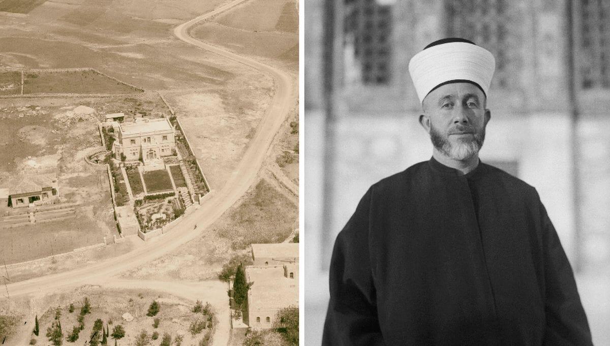 Die Villa des Mufti von Jerusalem im Jahr 1933