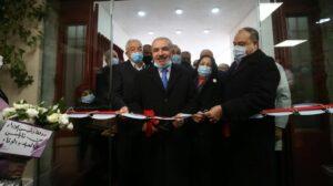 Der palästinensiche Ministerpräsident Muhammad Shtayeh eröffnet eine Corona-Spital in Nablus